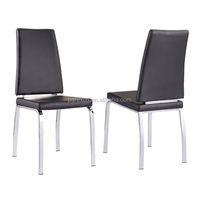 Good selling modern chromed legs dining chair
