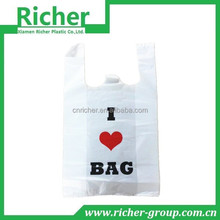 HDPE printed embossing grocery packing bag OEM size