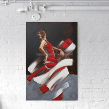 dancing girl oil painting