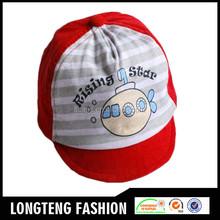 2015 fashion velvet promotional custom baseball baby cap