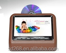 Brand new High resolution 9 inch wide screen car headrest monitor with Remote Control