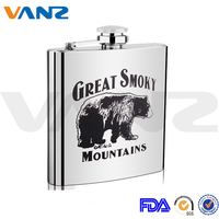 New Design Logo Customized Painting Stainless Steel Hip Flask