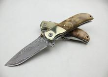OEM Treasure knife pocket knife with Damascus Steel UDTEK00258