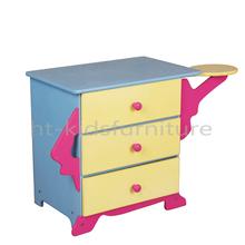 Latest design HT-KS019 three layers wardrobe closet for kids, high quality assembled wardrobe and detachable wardrobe