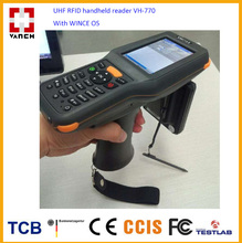 Rugged Industrial Android Mobile Phone Portable Computer PDA with long-range 400cm UHF 900MHz RFID reader and 2D Laser Barcode