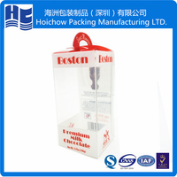 Small clear acrlic plastic pvc packaging box with hinged handle