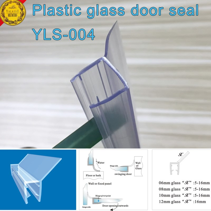 Eco Friendly Frameless Shower Door Seal With Translucent Vinyl Edge