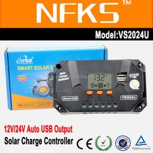 20A solar street light controller PWM 12V 24V Auto LCD usb smart solar controller