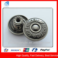 YX4874 High Quality Fashion Zinc Alloy Jeans Metal Button
