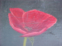 2015 Newly and Popular Seller Low Price Hand Painted Canvas Poppy Oil Painting