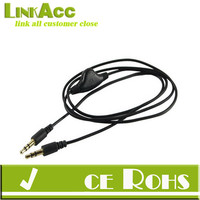 Apollo23-3.3 Feet 3.5mm Male to Male with Volume Control Aux Stereo Audio Cable for Apple iPhone Samsung Galaxy HTC Smartphones