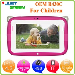 Shenzhen android kids tablet pc 4.3inch Single Core Android 4.2 RAM 512MB 4GB tablet