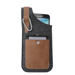Customized small gift bags for men popular pouch leather case