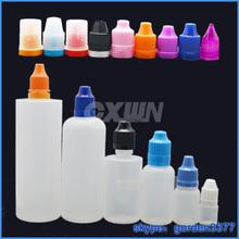 PET/PE bottle 10ml dropper plastic eye dropper bottles, empty ego oil dropper with green child lock cap ( e-liquids, e-juice)