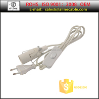 EU 2-pin power supply cord with switch