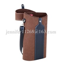 cheap price wine box holder/wine bag holder/leather wine holder