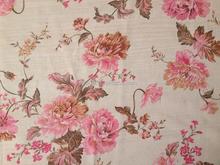 Soft handle red flower pattern China flocking chiffon fabric georgette fabric