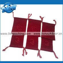 Customized Microfiber Velvet Sunglasses Bag Velour Pouch
