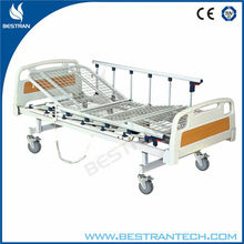 China BT-AE203 Hospital electric motor patient bed with mesh steel bedboard/side rails/silent wheels