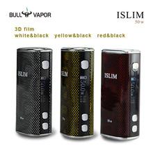 2015 Manufacturing high quality OEM 50w box mod Islim 50w best vaporizer 18650 mod e-cigarette