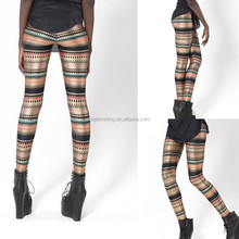 2015 Women's Pattern Printed Stretch Pants Ankle Length Footless Leggings