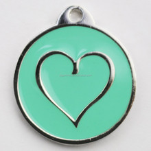 So lovely znic alloy id dog tag with qr code with sweet love for puppy pets
