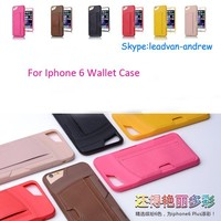 2015 New Hot Sale Fashion Colorful High Grade Wallet Case For Iphone 6 Plus