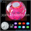 Battery operated color changing submersible led wedding lights base for wedding decoration