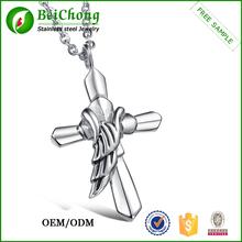 Único occidental plateado católica cruces colgantes