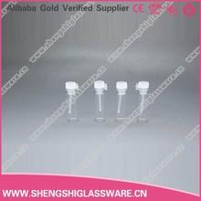 1ml glass tester perfume vial with plastic plug