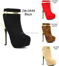 Good Quality Lady Bootie women boots high heels (JM-0449)