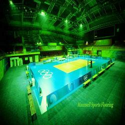 8mm volleyball/badminton court floor / pvc sports flooring