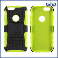 [GGIT]2 in 1 PC TPU Heavy Duty Shockproof Case for iPhone 6 Hybrid Kickstand Back Cover Case