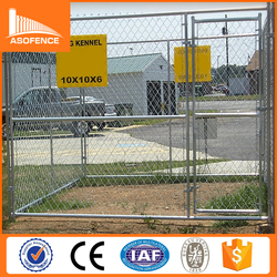 Chain Link 10x10x6 foot galvanized dog kennel / outdoor kennel for dog