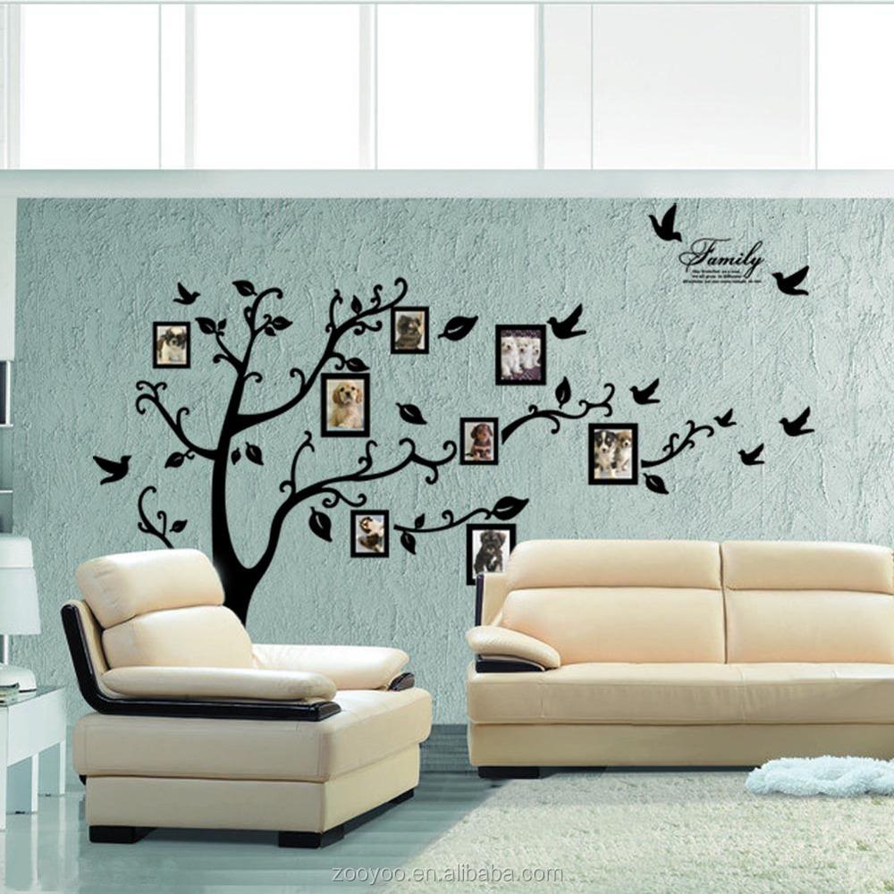 Zooyoo woonkamer muur sticker sticker fotolijst muurstickers ...