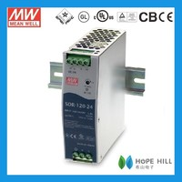 Original Meanwell SDR-120-24 120W Single Output Industrial DIN RAIL with Power Supply