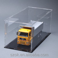 2014 new arrival used glass acrylic display cases with light promotional