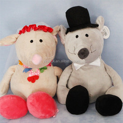 Lovely couple mouse plush soft toy for wedding