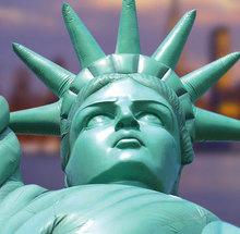 modelo inflable gigante para la exhibición, la Estatua de la Libertad inflable