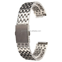 Lowest Price New Watch Strap Bracelet Stainless Steel Band With Push Button Double Flip Lock 18mm 20mm 22mm