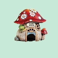 unique resin cute garden toad mushroom house