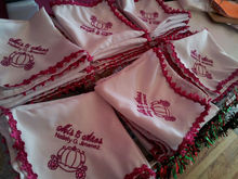 Embroidered Personalized Linen Napkins