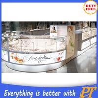 Retail shop interior design jewelry display case