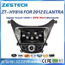 Zestech double din car stereo for Hyundai elantra 2012 gps bluetooth mp3 mp4