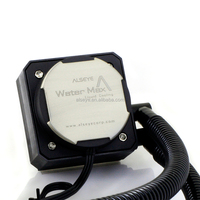 WaterMax120 computer radiator without heat pipe but water cooling block with 12025 case fan and PWM connector