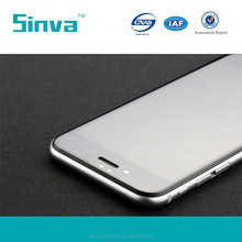 Sinva best price Full cover 100% perfect fit for iPhone 6 screen protector tempered glass, color glass screen protector