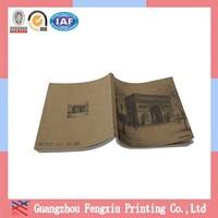 Glue Binding Offset Paper Brown Kraft Cover Notebook Printing