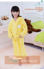 girls robe coral fleece thickening with a hood winter bathrobe Children's Clothing Sleepwear