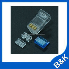 Greece unshield rj45 crystal head Bulk Package