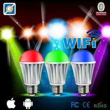 2015 hot products WiFi e14 rgb led amusement ride lighting bulb